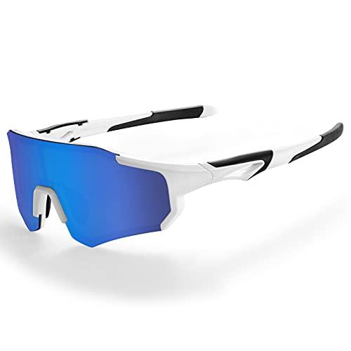 ROCKBROS Polariserade Cykelglasögon UV400 Skydd Dam Män Solglasögon Sportglasögon för Cykling, Löpning, Klättring, Fiske, Golf