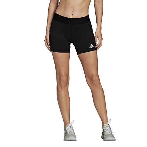 adidas Women's Alphaskin Volleyball 4-Inch Short Tights Black/White XL5