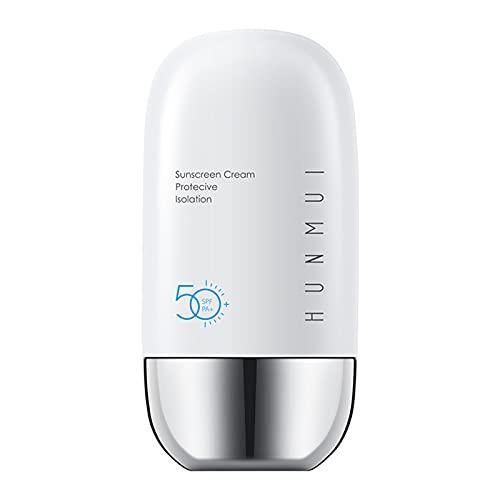 Festnight 50ml Crema de protección solar SPF50 + PA + Crema solar Crema protectora de aislamiento para la piel Blanqueamiento Loción de protección solar sin aceite para cara y cuerpo