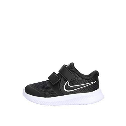 Nike Unisex Baby Star Runner 2 (TDV) Laufschuh, Schwarz Black White Black Volt 001, 19.5 EU