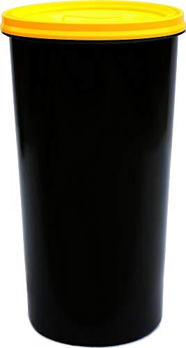 Gelber Sack - Tonne anthrazit mit gelbem Deckel - Müllsackständer - Müllständer - Mülleimer - Wertstoffständer - 60 l
