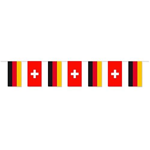 Everflag Papierfahnen-Kette 5m : Deutschland - Schweiz