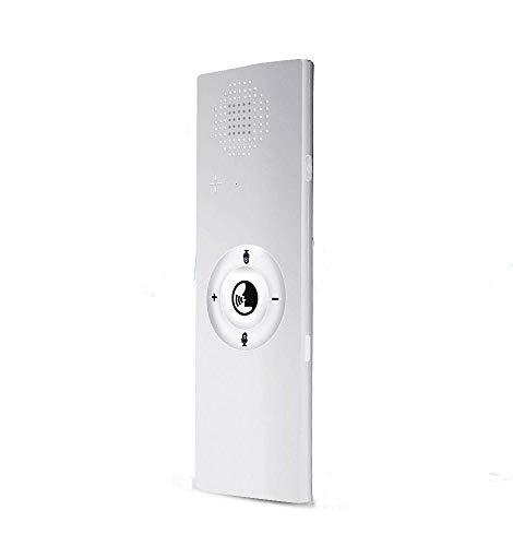 Dispositivo de traductor de voz inteligente, traductor portátil de 40 idiomas Bluetooth inalámbrico bidireccional voz en tiempo real para viajar aprendizaje de negocios compras reunión