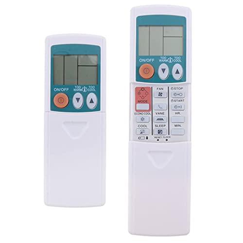 Mando a distancia de aire acondicionado, mando a distancia de repuesto para Mitsubishi KP3AS (pantalla LCD, no requiere programación ni configuración)