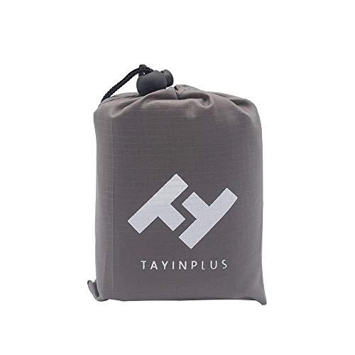 Tayinplus Manta de Picnic Manta de Camping Impermeable Estera de Playa para Plegable Bolsillo Senderismo Estera al Aire Libre con Bolsa de Transporte Ligero y Resistente a la Arena-Gris