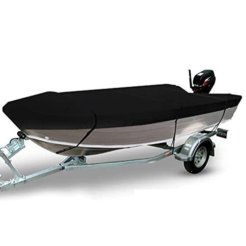Funda para Barco Runabout Funda para Barco Funda Impermeable para Barco Resistente para Todo Tipo de Clima Protección al Aire Libre 420D Tela Oxford Yate Lancha rápida Fish-Ski Funda para Casco en V