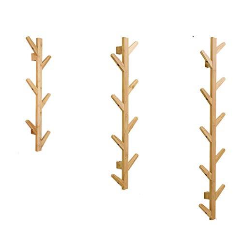 Oanzryybz Perchero Perchero y Perchero Verticales 10 Gancho, Perchero de bambú Vertical, Perchero for Ropa y Perchero, Corredor de pie Dormitorio Dormitorio Oficina en el hogar (Size : 123cm)