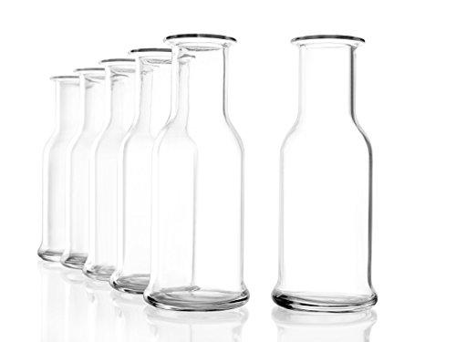 Stölzle Oberglas Purity Karaffe 0,125 l, 1/8 Liter, Karaffe, Krug, Zeitlose, Moderne Optik, 6 Stück, spülmaschinenfest, hochwertige Qualität