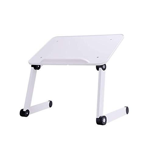 ZXL Klapbed tafel, laptop tafel opvouwbare draagbare hangbeugel (zwart, wit) (kleur: wit, maat: met een muismat)