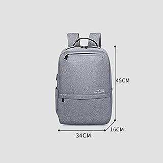 Asdfnfa Korean Version of The Computer Backpack Simple Backpack Casual Men and Women School Bag (Color : Gray)