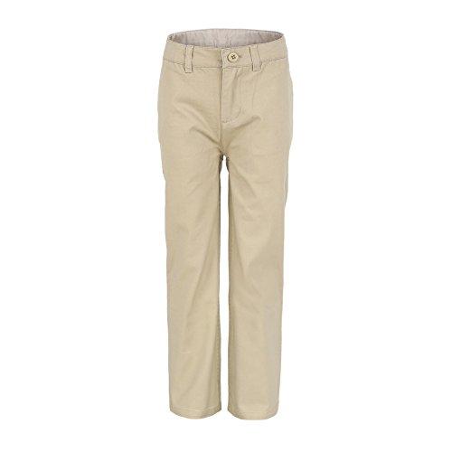 Bienzoe Jungen Baumwolle Einstellbare Taille Hosen Khaki Größe 5