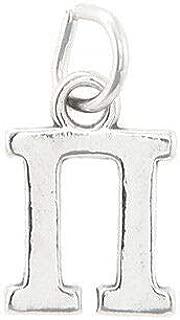Sterling Silver Pi Greek Letter Charm Sorority Fraternity Pendant Bracelet Jewelry - Charm Crazy