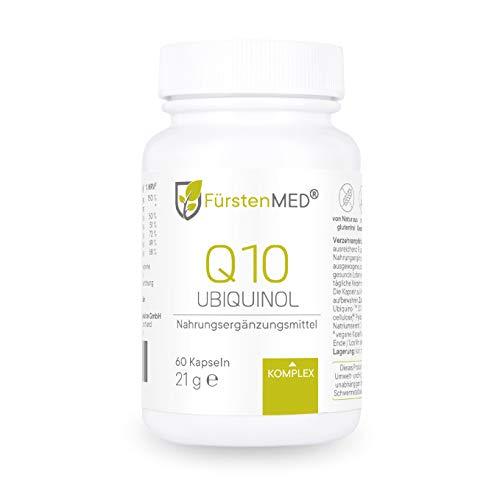 FürstenMED® Ubiquinol Kapseln - aktiviertes Q10 mit Vitamin B1, B6, B12, Selen, Biotin & Vitamin C - Vegan, aus Deutschland & ohne Zusatzstoffe
