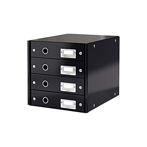 LEITZ Click Store Cassettiera 4 Cassetti - Nero - 60490095