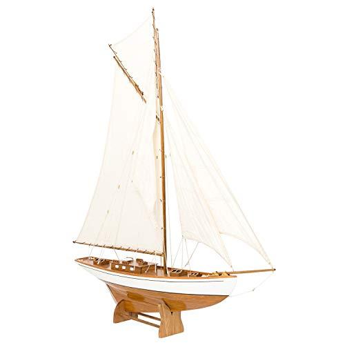 aubaho Nave Modelo yate de Vela Barco de Madera de Barco velero 135cm no Hay Kit