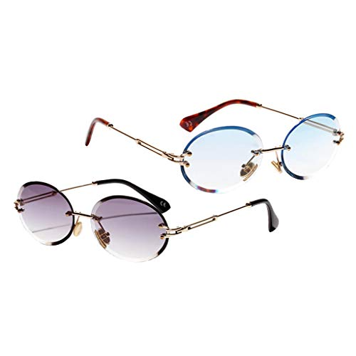 kowaku 2X Gafas de Sol de Forma Ovalada para Mujer Gafas de Sol Tintadas