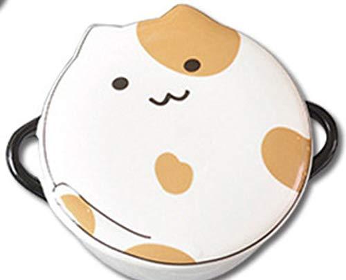 MOLUO Lonchera Kawaii Cartoon Ceramic Lunch Box Redondo...