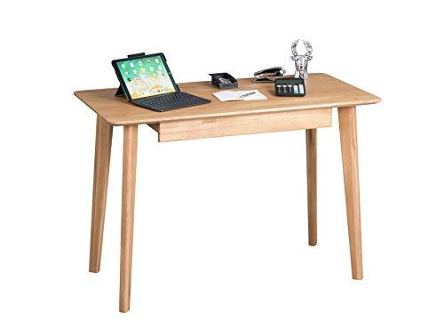 HomeTrends4You Kevin Schreibtisch/Sekretär, Holz, braun, Breite 110cm, Höhe 75cm, Tiefe 55cm