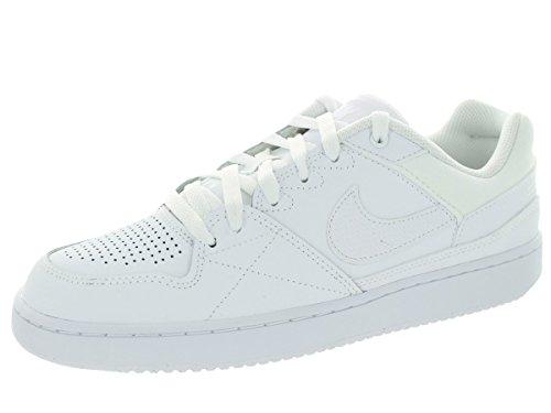 Nike Prioridad de los hombres bajo blanco / blanco calzado informal 9...