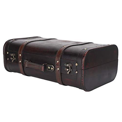 Maleta de madera, maleta vintage portátil personalizada de estilo antiguo, cierre de hebilla Hermosa caja de madera para decoración, hombres, mujeres, estudio fotográfico, accesorios de