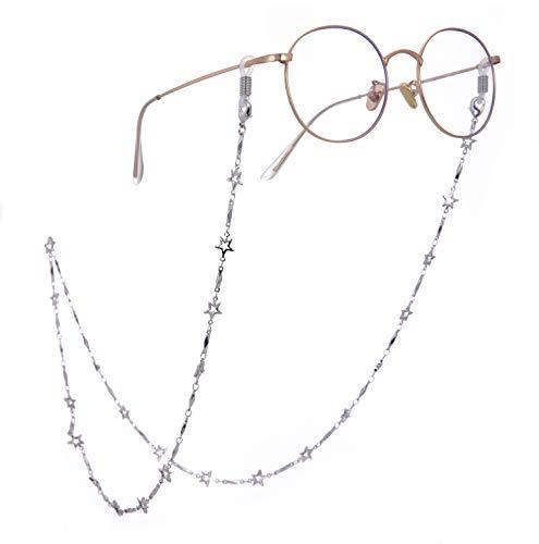 Cooltime - Cadena para gafas con diseño de estrellas de cinco puntas, accesorio para hombre y mujer