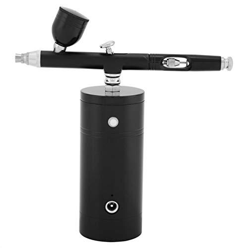 WEQQ Mini Juego de aerógrafo inalámbrico Multiusos, Bomba de pulverización, Kit de compresor de Aire Gen Pen (Negro)