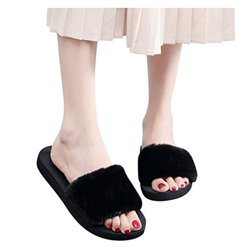 Aniywn Sandals Shoes for Women Flip Flop Slippers Casual Plush Warm Non-Slip Household Platform Slippers Shoes