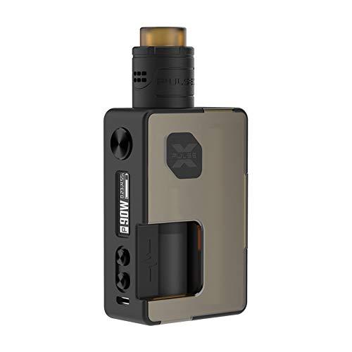 Original Vandyvape Pulse X BF Kit, E Zigarette Akku 90W Pulse X RDA 8ml mit Squonk-Flasche 18650 Batterie Adapter-Ohne Nikotin Ohne Tabak (Frosted Amber)