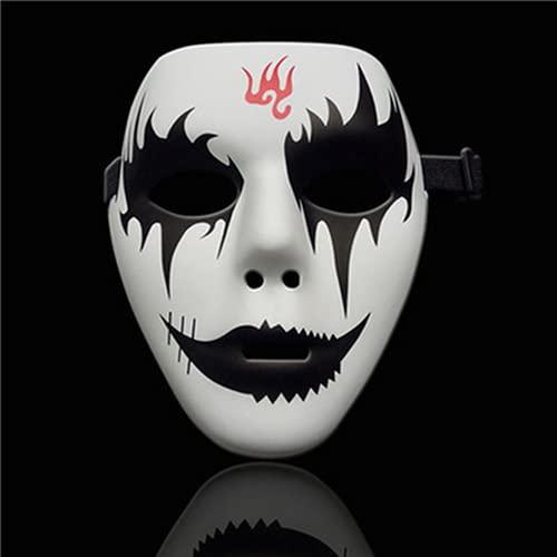 Vpsppb Una máscara de Hombres y Mujeres Guapo Cabeza de Aire ataúd Horror Cara Medio Cara Zombie Payaso Muerte Dios Scler Dance Mask