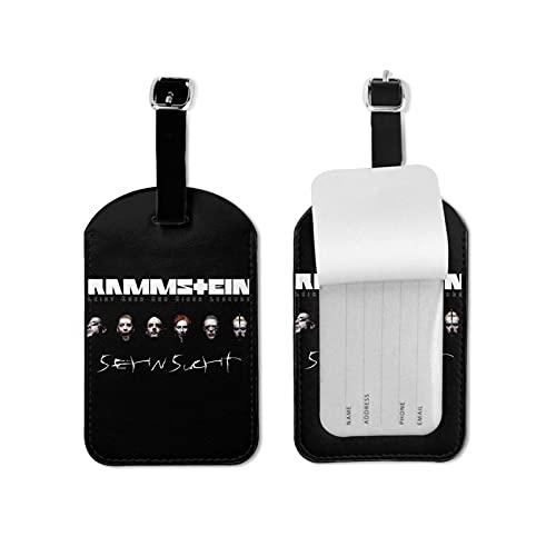 Ra_MMS_Tein etiqueta de equipaje para equipaje identificador de viaje de microfibra de piel sintética