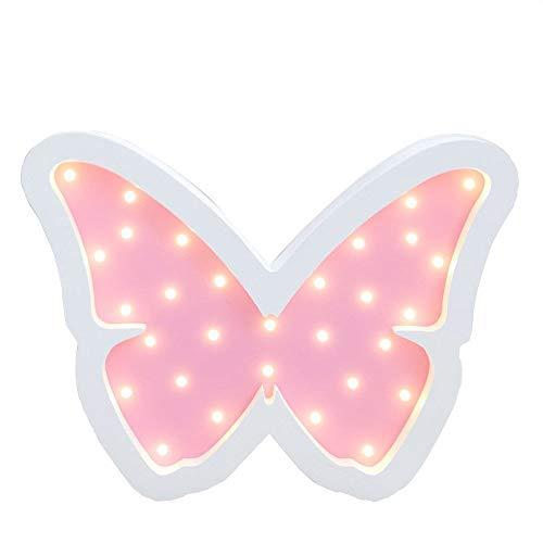 Schmetterling Wandlichter Holz Lampe, KEEDA Nachtlichter & Schlummerleuchten für Kinder, Stimmungslicht Wand Dekor für Schlafzimmer/Wohnzimmer (Rose)