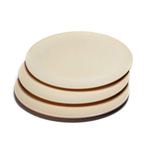 bambuswald© nachhaltige große & flache Teller (6 Stück | D25xH1cm) - Speiseteller aus Bambus | spülmaschinenfest & robust: Bambusteller Geschirr Essteller Essgeschirr Service - Picknick Camping