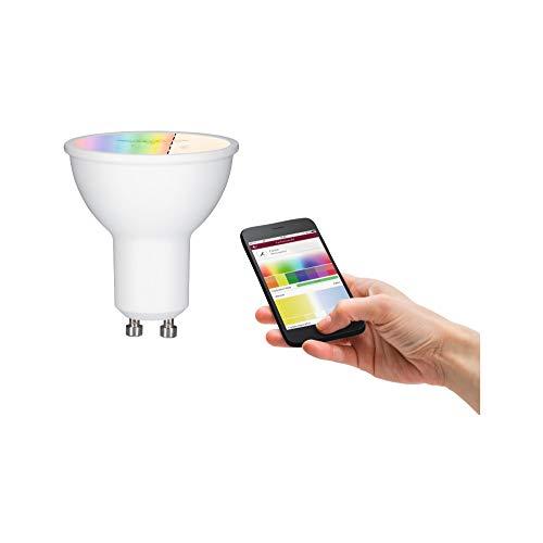 Paulmann 50130 LED Lampe Reflektor Smart Home Zigbee RGBW 36° 5,5 Watt dimmbar Energiesparlampe Matt Beleuchtung Lampen 2700 K GU10