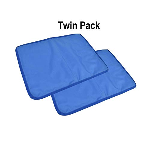 Pack of 2 Vinsani Cool Gel Pad Pillow Gel Inlay - Natural Cooling & Maximum Comfort - for Any Pillow
