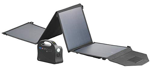 reVolt Solar-Stromaggregat: Powerbank & Solar-Konverter mit 50-Watt-Solarpanel, 97 Wh, 120 Watt (Powerstation 230V)