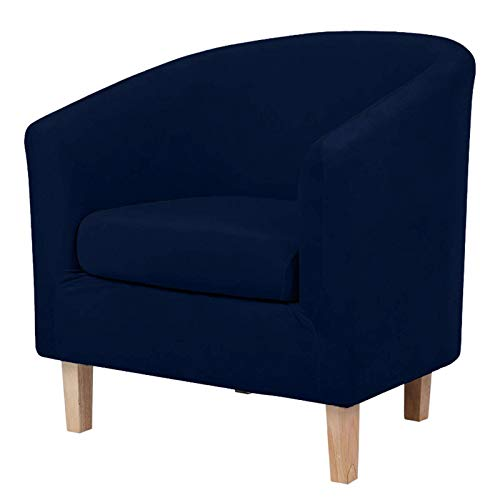NUELLO Funda para Silla de Club de Felpa, Cubierta de Terciopelo para sillones Muebles Protector de Muebles Fundas para sofá para Bar mostrador Sala de Estar Internet-Azul marino-2Estilo de Pieza