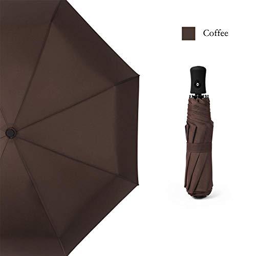 Sombrillas Terraza Paraguas Completamente Automático Femenino A Prueba De Viento 8 Costillas Paraguas Fuertes Lluvia Mujeres Hombres Negocios Lluvia Soleado Paraguas