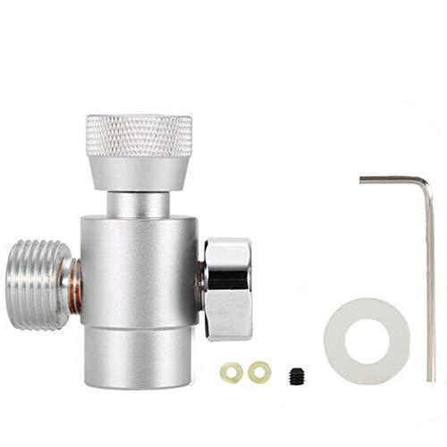 DIYARTS CO2 Recharge Adaptateur en Aluminium Acier Inoxydable Connecteur Homebrew Accessoires pour CO2 Soda Stream Remplissage du Réservoir/Cylindre