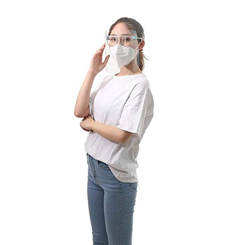 LEIKEGONG Safety Careta Proteccion con Montura De Gafas Doble Cara Anti-vaho, Anti-gotitas, Anti-Salpicaduras De Aceite, Transparente Y Transpirable, Reutilizable (2 Piezas)
