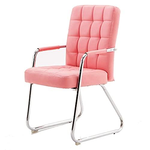XKUN Silla de oficina, silla de computadora, silla de ordenador, silla de conferencia, silla de salón para estudiantes, dormitorio o dormitorio, elegante mesa de comedor, color rosa