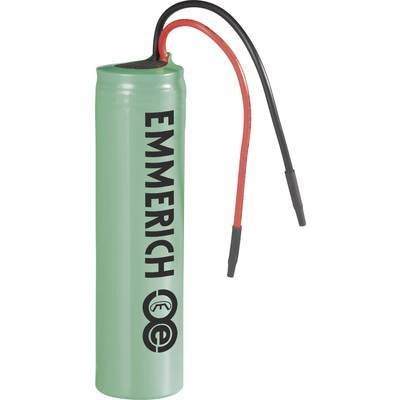 Emmerich ICR-18650NQ-SP Spezial-Akku 18650 Kabel Li-Ion 3.7V 2600 mAh