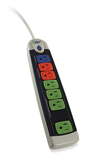 Bits Limited SCG-3MVR Smart Strip Advanced Power Strip, 7-Outlets, Surge Protector, 15A, 4ft. Cable, Pack of 1