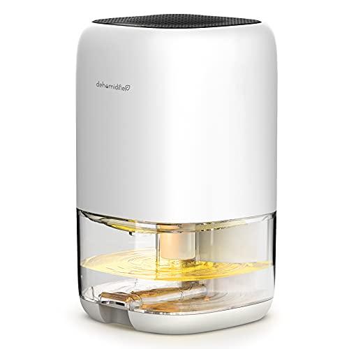Nessbase Small Dehumidifier 2100 Cubic Feet (260 sq ft) Mini Dehumidifier Portable Dehumidifiers for Basements, Home, Bedroom, Garage, Wardrobe, RV