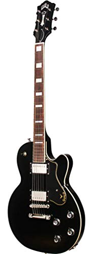 Guild Guitars Newark St. Collection 6 String Solid-Body Electric Guitar, Right, Black (Bluesbird)
