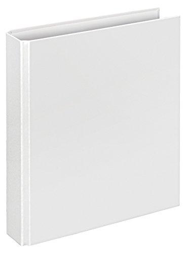Veloflex 1151090 Ringordner Basic, Ringbuch, Ordner, DIN A5, 2-Ring-Mechanik, 196 x 230 x 30, Karton, weiß