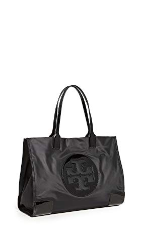 Tory Burch Women's Nylon Ella Tote, Black, One Size