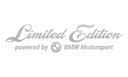 WRAP-SKIN Limited Edition passend für BMW Motorsport Aufkleber WS-10-01-10001 090 Silbergrau Metallic Glanz