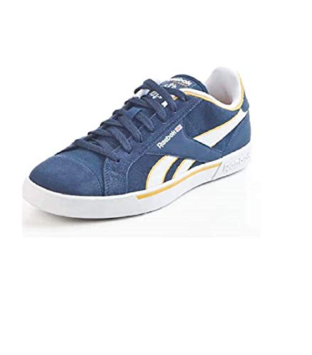 Reebok Modesport & Trekkingschuhe Breakpoint Low in Breakpoint Low Athletic Navy/White/Autumn Yellow, aus Velour, Freizeitschuh, Gummisohle in Größe 7.0 Artikel-Nr. 180179-5