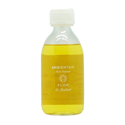 Ambientair Home Perfumes. Recambio para ambientador 250ml. Azahar. Recambio para difusor de Varillas. Líquido para Rellenar tu ambientador Mikado de palitos. Sin Alcohol.