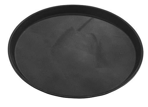 Grunwerg PNB-1100 - Vassoio in plastica Tuffgrip in confezione regalo, rotondo, nero, diametro 27 cm